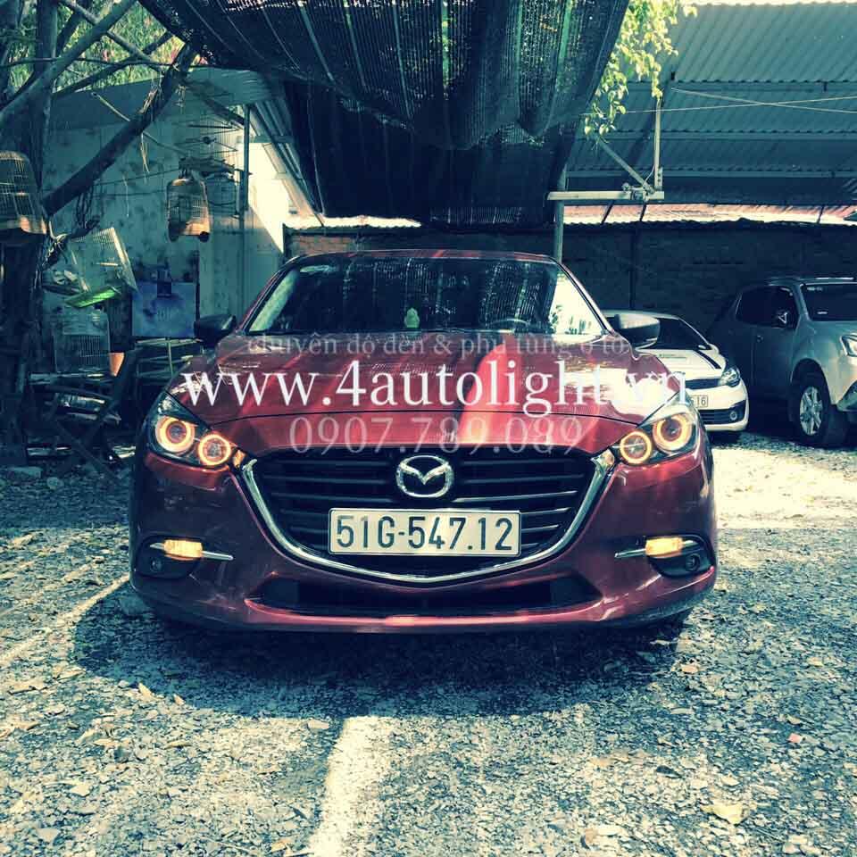Mazda3 độ đèn pha kiểu BMW